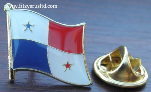 Panama Country Flag - Enamel Lapel / Tie or Hat Pin Badge Repblica de Panam